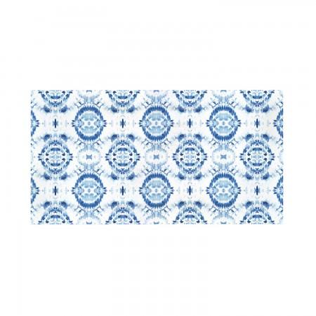 Cabeceira decapada azul geométrico