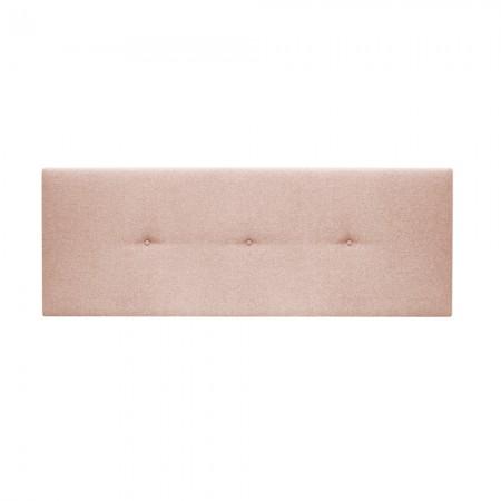 Cabeceira estofada Hoola botões rosa vara
