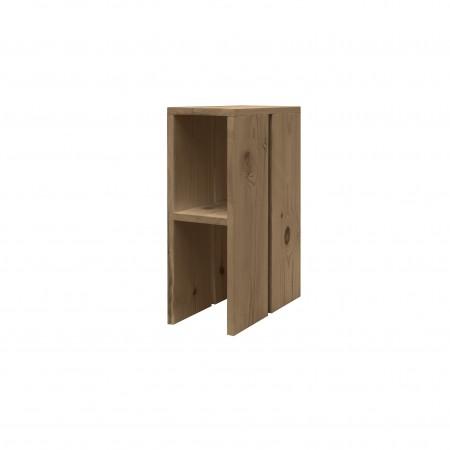 Mesa de cabeceira de madeira envelhecida