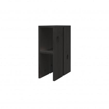 Mesa de cabeceira lateral de madeira branco