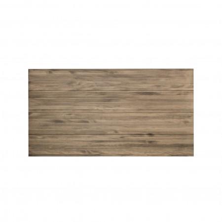 Cabeceira de madeira envelhecida