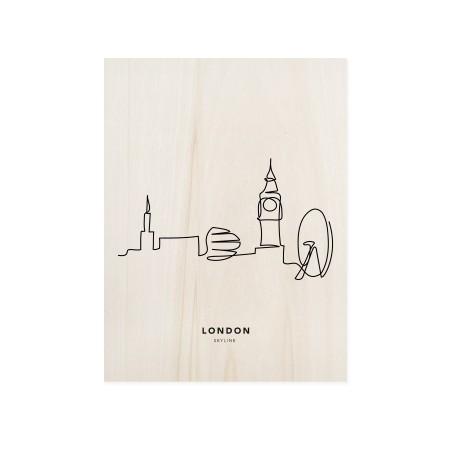 Caixa de madera London Skyline