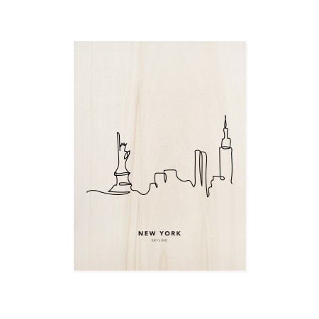 Caixa de madera New York Skyline