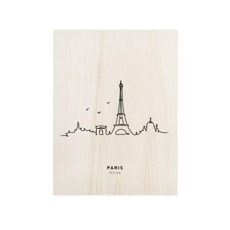 Caixa de madera Paris Skyline