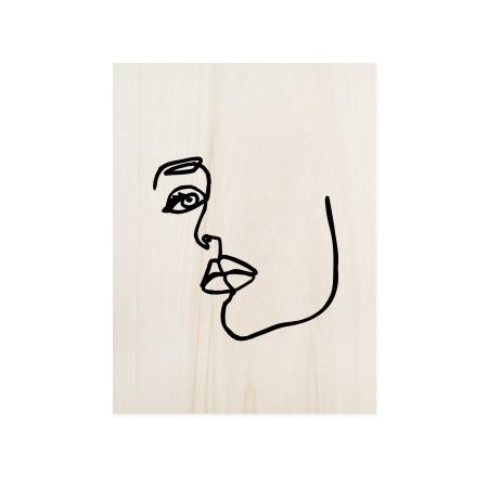 Caixa de madera Face Mood I