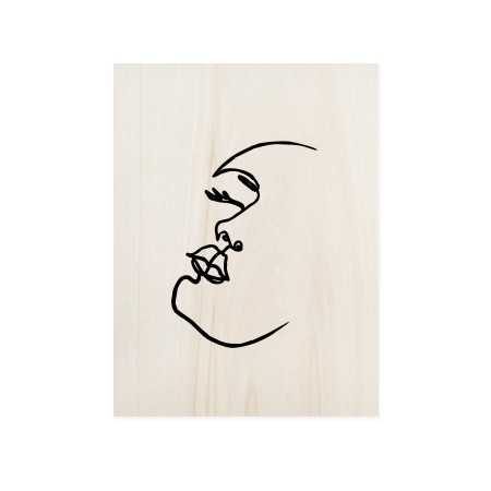 Caixa de madera Face Mood II