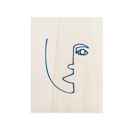 Caixa de madera Blue Face