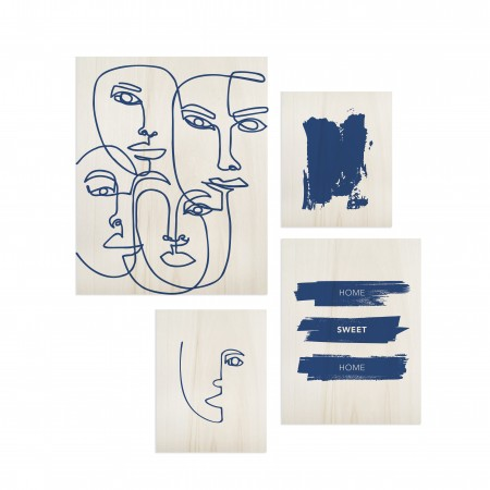 Pack de quadros Classic Blue