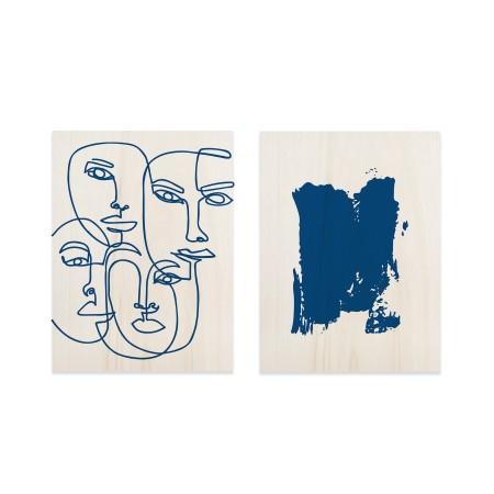 Pack de quadros Blue