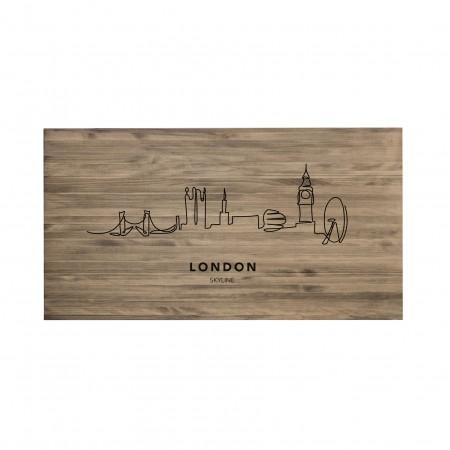 Cabeceira envelhecida London Skyline
