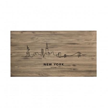 Cabeceira envelhecida New York Skyline