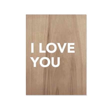 Caixa de madera I love you