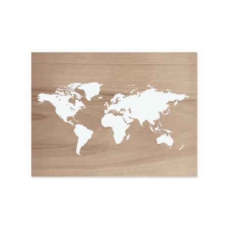 Caixa de madera Mapamundi envelhecido