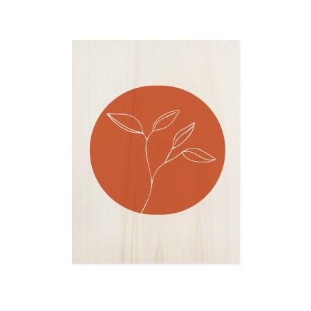 Caixa de madera Flower Terracotta