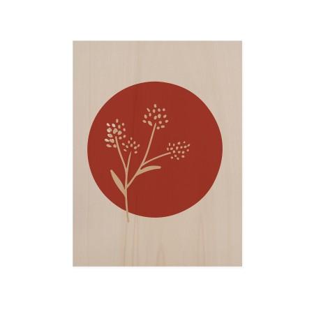 Caixa de madera Flower Terracotta II