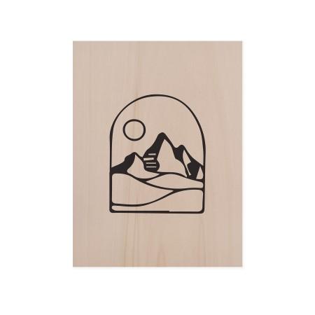 Caixa de madera Mountain