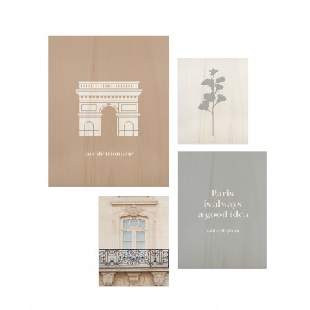 Pack de quadros Paris Good idea